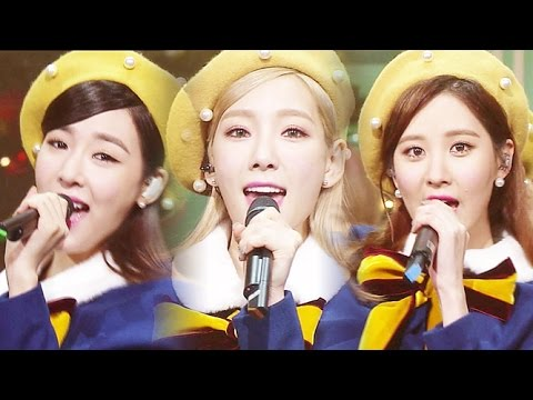 《UNIT》 소녀시대 태티서(Girl's Generation TTS) - Dear Santa(디어산타) @인기가요 Inkigayo 20151206