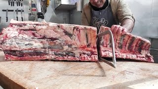 London Food Experience. A Look Into a Butcher's Shop Of English Beef from Yorkshire
