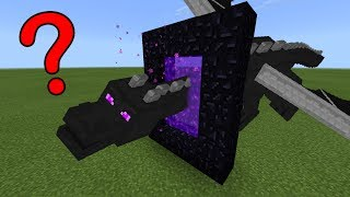 What Happens When the Ender Dragon Flies Into a Nether Portal in Minecraft Pocket Edition?
