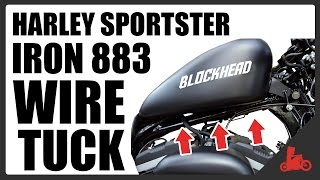 HOW TO: Wire Tuck on a Harley Sportster