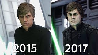Luke Skywalker Battlefront 1 (2015) vs Battlefront II (2017) Graphics Comparison