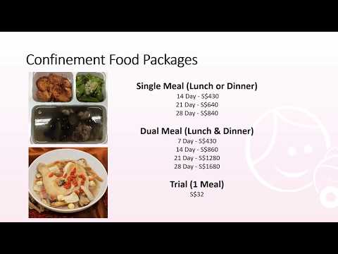 Confinement Food Catering Singapore