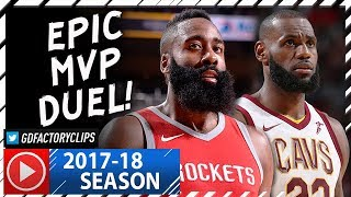 James Harden vs LeBron James EPIC MVP Duel Highlights (2017.11.09) Cavs vs Rockets - MUST SEE!
