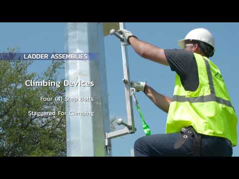 Climbing and working devices for utility structures All-Pro Ladders offer climbing and working ladders for a wide range of steel pole and utility ladder applications, as well as other utility structures.