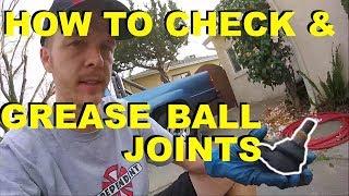 How to Check & Grease Service Ball Joints - Toyota Rav4 Camry Corolla Etc. -Jonny DIY