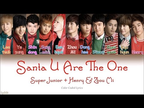 Super Junior + Henry & Zhou Mi – Santa U Are The One (Color Coded Lyrics)