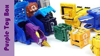 터닝메카드W 에반킹 과 애니멀포스 장난감 Mecard Mini Car Toys And Power Ranger Animal Force