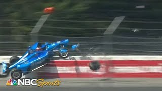 Massive wreck in first lap of IndyCar ABC Supply 500 | Motorsports on NBC