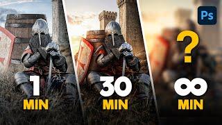Photoshop Challenge: 1 Minute vs 10 Minutes vs 30 Minutes vs…