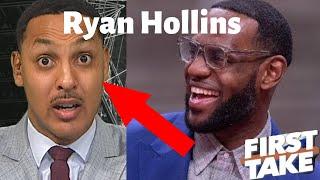 Someone Get this Man Off ESPN - Ryan Hollins | First Take