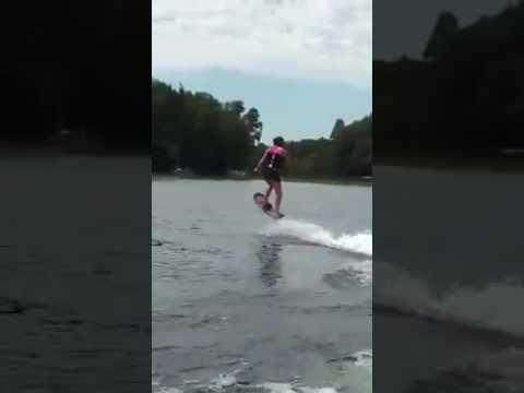 Customer shredding on the Hoverboard