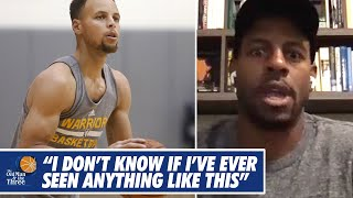 Andre Iguodala Tells The Story of A Legendary Stephen Curry Shooting Performance In Practice