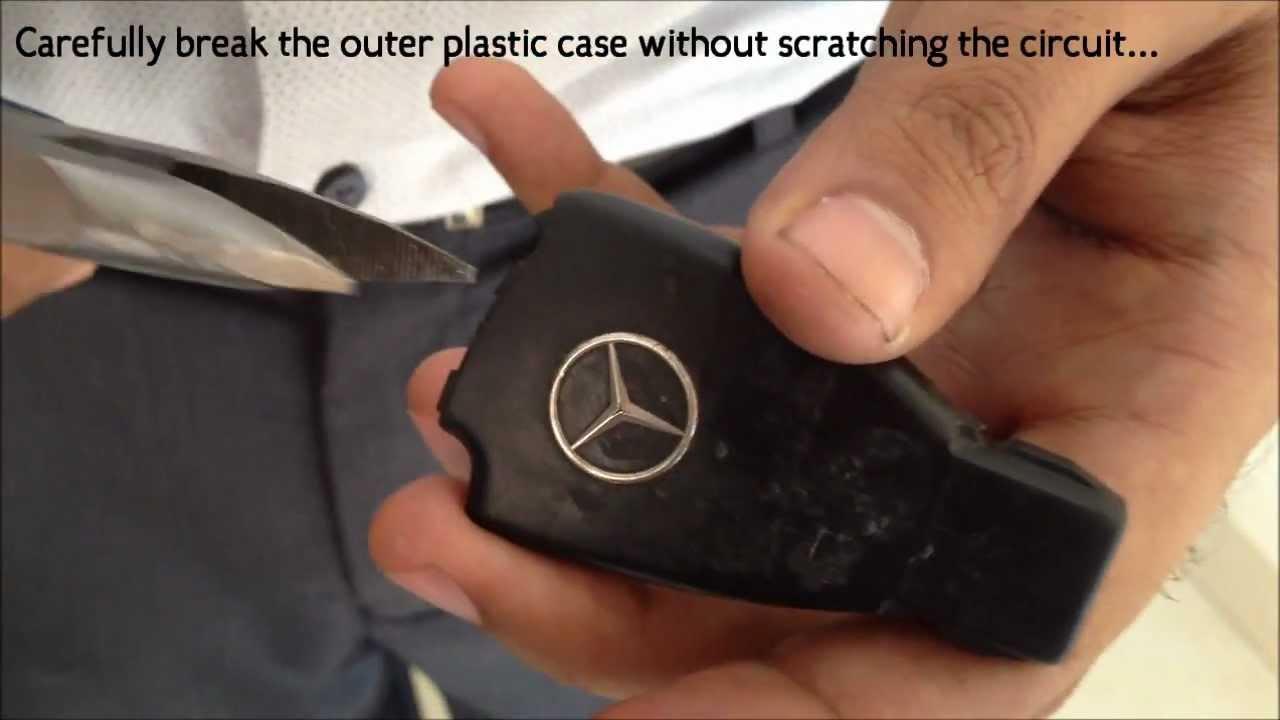 Mercedes Keyless Shell Change Destructive Method Youtube