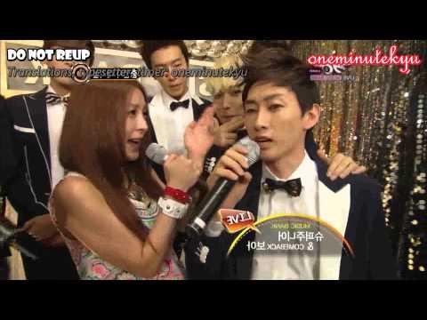ENGSUB 120810 Super Junior SPY Music Bank with BoA