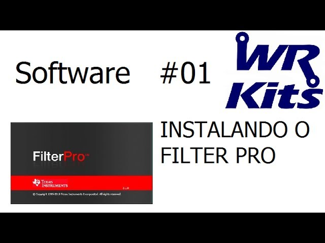 INSTALANDO O FILTER PRO - Software #01