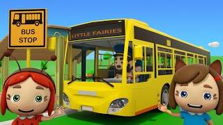 The Wheels On The Bus Song Little Fairies Nursery Rhymes & Kids Songs
