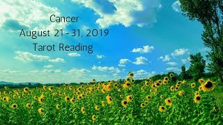 Cancer August 21-31, 2019 // You're Winning This Race Called Life // Tarot Reading