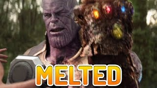 The Infinity Gauntlet is Melted Onto Thanos! Infinity War Avengers 4 Theory