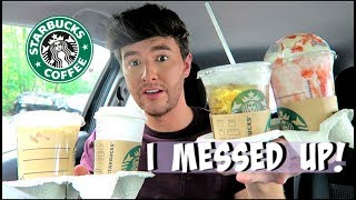 Trying MY Subscribers FAVOURITE Starbucks Drinks!!!