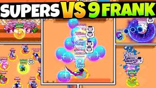 EVERY Brawlers Super vs 9 Franks! (satisfying)