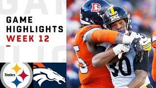Steelers vs. Broncos Week 12 Highlights | NFL 2018