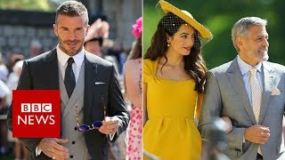 Royal wedding : Royalty of the celebrity world arrive - BBC News