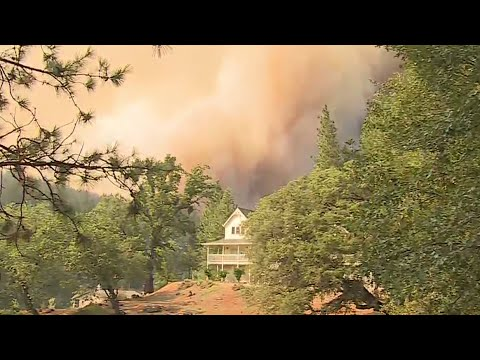 Firefighters Protecting Structures In Colfax Threatened By River Fire