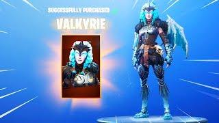 The New VALKYRIE SKIN Gameplay in Fortnite.. (FEMALE RAGNAROK SKIN)