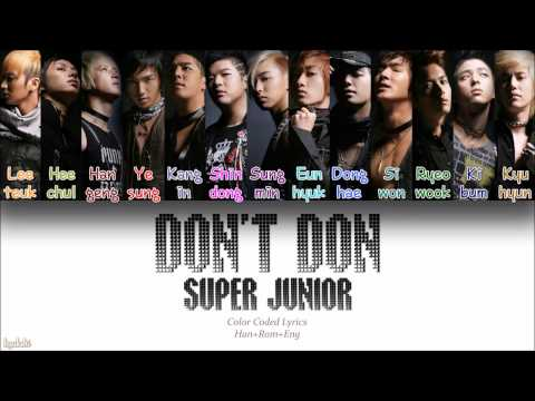 Super Junior (슈퍼주니어) – Don't Don (돈 돈!) (Color Coded Lyrics) [Han/Rom/Eng]