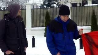 Protest la ambasada rusă înaintea olimpiadei