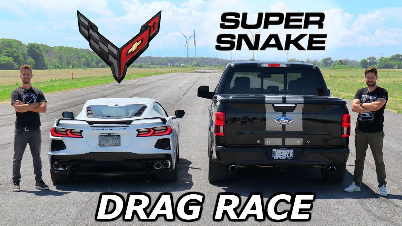 2020 C8 Corvette vs 770HP Shelby F-150 Super Snake // DRAG AND ROLL RACE