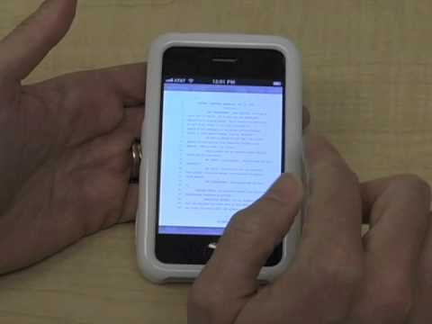 Reading PDF Transcripts on an iPhone