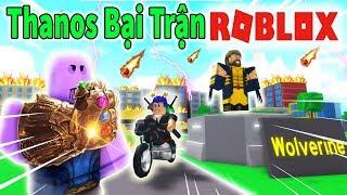 Roblox - NGƯỜI SÓI WOLVERINE XÂY CĂN CỨ 1 MÌNH TIÊU DIỆT THANOS - 2 Player Superhero Tycoon