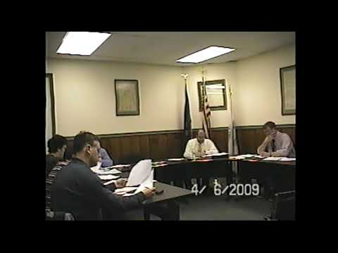 Champlain Village Board Meeting  4-6-09