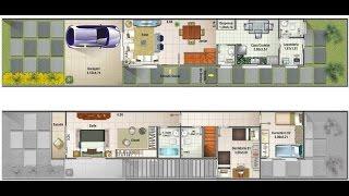 Download projeto casa 3d sobrado 5x25 video to mp4 3gp for Casa moderna de 7 00m x 15 00m
