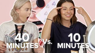 Long Vs. Short Makeup Routines