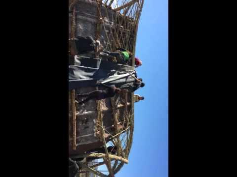 Impermeabilización epdm de casa de paja y cañas en benidoleig Alicante