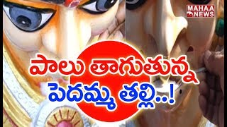 Durga Idol Drinking Milk In West Godavari..