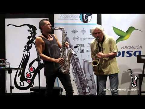 Llibert Fortuny y Perico Sambeat - Teror Saxophone Academy 2015