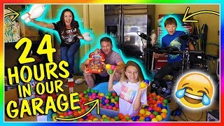 24 HOURS IN OUR GARAGE! | OVERNIGHT CHALLENGE | We Are The Davises