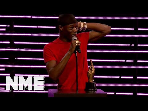 J Hus wins Best Album supported by Orange Amplification   VO5 NME Awards 2018