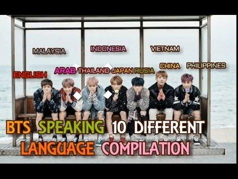 BTS SPEAKING 10 DIFFERENT LANGUAGE COMPILATION