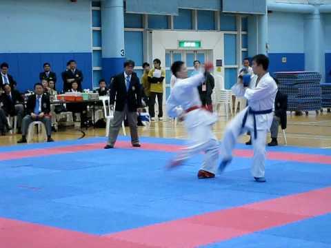 2008香港空手道比賽-75公斤決賽冠軍(Karate)