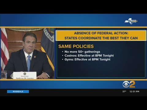 Coronavirus Update: Tri-State Area Governors Match COVID-19 Containment Rules
