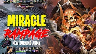 CLINKZ OFFLANE RAMPAGE WITH NEW BURNING ARMIES - MIRACLE WTF 7.20 DOTA 2