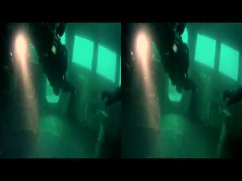 3D GoPro Wreck Diving - Ex HMAS Adelaide Wreck Dive in 3D