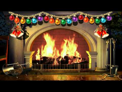 Virtual Christmas Fireplace - Free background video 1080p HD  15 minute loop