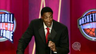 Scottie Pippen's Basketball Hall of Fame Enshrinement Speech