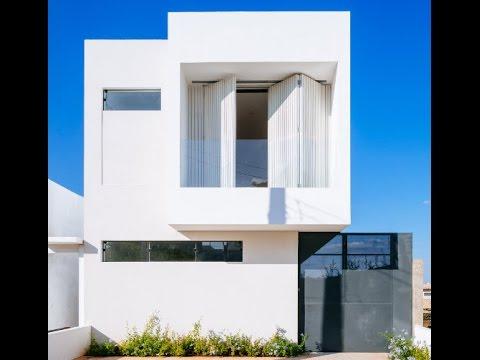Planos de casas de dos pisos con fachadas modernas for Casa moderna minimalista 6 00 m x 12 50 m 220 m2