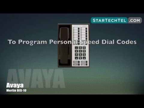 How To Set Up Personal Speed Dials On The Avaya Merlin BIS-10 Phone